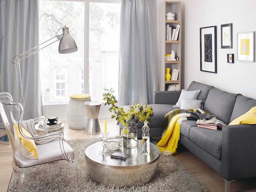Grey White And Yellow Living Room new home inspiration: living room | stieve says