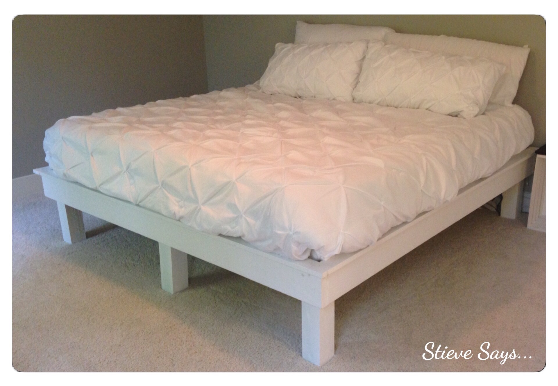 our diy bed frame and an unsponsored review of the casper mattress